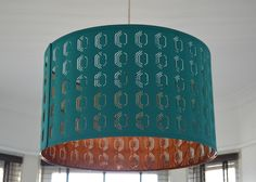 Teal and copper lightshade - IKEA