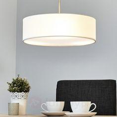 Lampa wisząca SEBATIN z materiału, kremowa