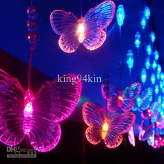 96 Led Lights 4m*0.65m Ornament Curtain Lights,Christmas Ornament,Shop Window Decoration Items,Plastic Butterfly Beads Icicle Light Strip Blue String Lights Wedding String Lights From King94kin, $59.64  Dhgate.Com