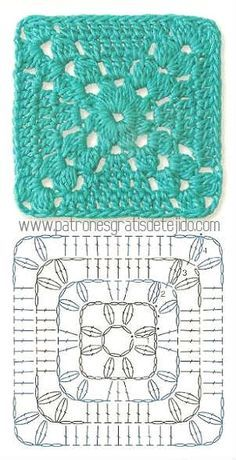 Transcendent Crochet a Solid Granny Square Ideas. Inconceivable Crochet a Solid Granny Square Ideas. Crochet Motif Patterns, Crochet Blocks, Granny Square Crochet Pattern, Crochet Diagram, Crochet Chart, Crochet Squares, Free Crochet, Knitting Patterns, Motifs Granny Square