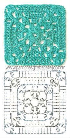 Colección de los mejores grannys crochet / Descarga Gratis | Crochet y Dos…