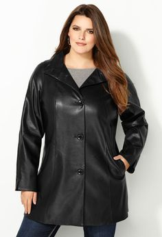 Long Pleather Coat