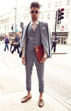 MenStyle1- Men's Style Blog - Men's Vest Inspiration. FOLLOW: Guidomaggi Shoes...