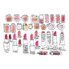 These Cool Makeup Drawings Are Actually Made With Makeup ❤ liked on Polyvore featuring fillers, backgrounds, doodle, graphics, makeup and scribble