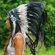 Red Indian Headdress - 95cm – Indian Headdress - Novum Crafts