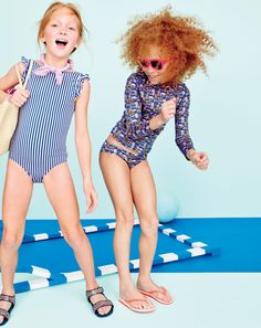 Crewcuts awesome alert: All girls' swim now has UPF 50. Yup, you read that right. Every single one of our rash guards, one-pieces, tankinis and bikini bottoms has UPF 50 sun protection (it's like sunscreen for your clothes!) built right in…