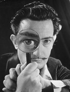"""""""At the age of six I wanted to be a cook. At seven I wanted to be Napoleon. And my ambition has been growing steadily ever since."""" ― Salvador Dalí Photographed by Philippe Halsman, 1946."""
