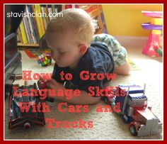how to grow language while playing with cars and trucks. Pinned by SOS Inc. Resources siu ki Storage & Organisation Solutions Inc. Speech Therapy Activities, Speech Language Pathology, Language Activities, Infant Activities, Speech And Language, Learning Activities, Kids Learning, Transportation Activities, Language Development