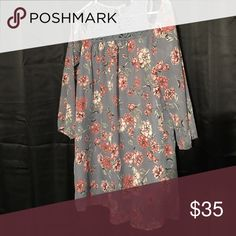 Floral cold shoulder dress Blue floral cold shoulder dress with lace detailed top. Size Medium. Asking $25 but will consider reasonable offers. I also offer a discount when you bundle  Dresses Mini