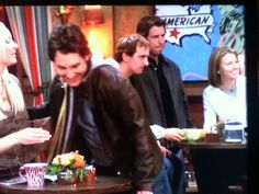 Colin Edwards MotoGP in background of a Friends episode.  Invited by Matt LeBlanc