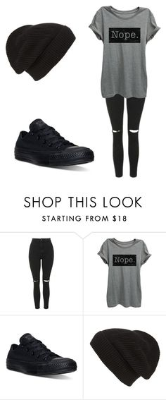 """Untitled #436"" by fairytalestorybook ❤ liked on Polyvore featuring Topshop, Converse and Phase 3"