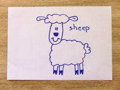 How To Draw A Sheep In 60 Seconds? Sheep In 60 Seconds with Funny Socks!