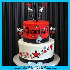 Rock Star 1st Birthday Cake