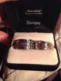 Harley Davidson Wedding Ring Detail Shot By Nallayerstudios