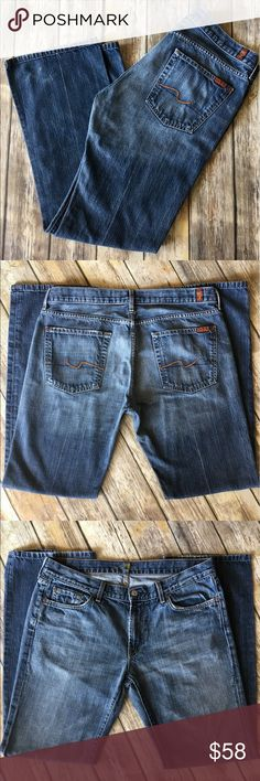 7 For All Mankind - Men's Boot Cut Denim Jeans 7 For All Mankind - Men's Bootcut Denim Jeans (size 34x32). In exceptional preowned condition. Please be sure to check out all of my other men's items to bundle and save. Same day or next business day shipping is guaranteed. Reasonable offers will be considered. 7 For All Mankind Jeans Bootcut