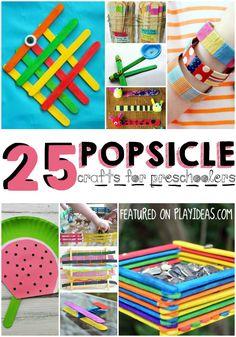 25 Summertime Popsicle Stick Crafts for Preschoolers