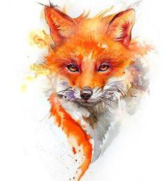 cute fox Hey look Brownie! Aquarell Tattoo Fuchs, Fuchs Tattoo, Art Sketches, Art Drawings, Fox Drawing, Fox Painting, Fox Pictures, Fox Art, Cute Fox