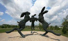 Dancing Hares, Sophie Ryder