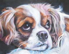 Cavalier King Charles Spaniel hond kunst CANVAS print van LA
