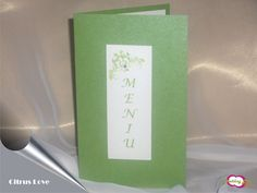Meniu pentru nunta realizat din carton verde sidefat si accesorizat cu un stras. 4,1 RON* *Pretul include TVA, personalizare (imprimare color) si asamblare **Acest articol poate fi realizat si in a... Frame, Decor, Green, Picture Frame, Decoration, Decorating, Frames, Deco