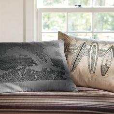 Surf Sketch Pillowcase, Beach Side  How cute for a Boys room!