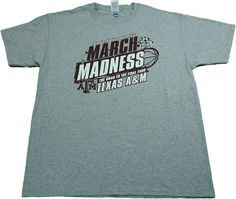 NCAA Men's 2016 Division I Texas A&M March Madness T-Shirt Gray