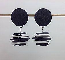 "Sara Earring by Klara Borbas (Polymer Clay Earrings) (2"" x 1"")"