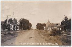 RP: Main Street , Looking East , CAMPBELL , Minnesota , PU-1909