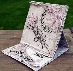 Hello, this is a wedding card I made using the Vintage Autumn Basics Collection from Maja Design & Dusty Attic Chipboard Wedding Favours, Wedding Cards, Wedding Ideas, Shabby Chic Cards, Easel Cards, Some Cards, Creative Cards, Homemade Cards, Love Heart