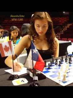 Alexandra Botez, one of Canada's top female chess players Most Beautiful Women, Amazing Women, Chess Quotes, Chess Players, Kings Game, Volleyball Players, Chess Pieces, Strategy Games, Girls Be Like