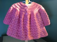 In this video tutorial I show you how to crochet a puff stitch, chunky, sweater to keep your little girl warm this fall. This sweater is very soft and comfor...