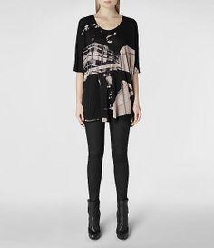 Womens Resonate Dreams T-shirt (Ebony) Was $125 Now $87 | ALLSAINTS.com