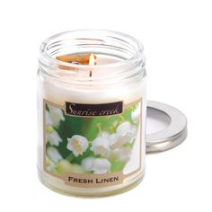 Fresh Linen Scent Candle | eBay