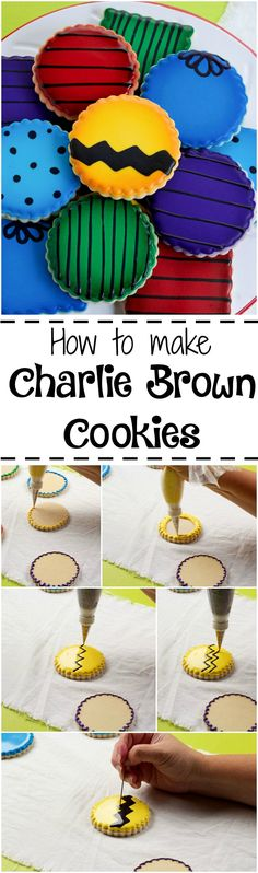 How to Make Charlie Brown Cookies with a How to Video   The Bearfoot Baker