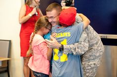 The best hug ever! Welcome home, Sgt. Williams!