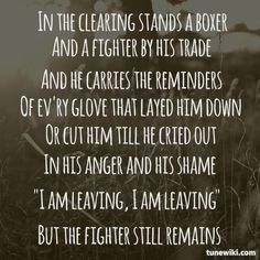 The Boxer , Recorded November 1968 , Lyrics by Paul Simon , inspired after reading the Bible