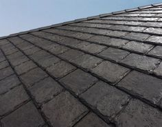 Euroshield's roofing is 75%  reclaimed tire rubber. An additional 10% is comprised of other recycled material. Covering a typical house  reuses between 600-1,000 car & truck tires!  These shingles are more durable than conventional shingles.  Cool stuff