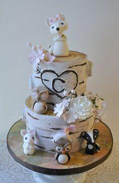 Woodland Theme Baby Shower Cake - by SweetLittleMorsels @ CakesDecor.com - cake decorating website