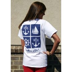 Navy and White Anchor Tee