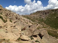 Trail along the peak of Crested Butte