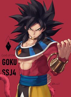 Fan Art Goku SSayajin 4 God of destruction💥 Anime Couples Manga, Cute Anime Couples, Anime Girls, Dragon Ball Gt, Dragonball Anime, Broly Movie, Dark Anime Guys, Dragon Images, Manga Illustration