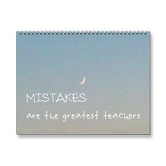 SOLD! 12 Mistakes 2015 Inspirational Calendar