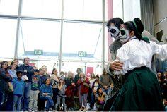 Santa Cruz, CA ~ Santa Cruz Museum of Art & History will celebrate Día de los Muertos on November 1, 2014 with traditional Mexican crafts and dance performances by Grupo Folklorico Los Mejicas, followed by a procession to Evergreen Cemetery.  #DiaDeLosMuertos #DayOfTheDead