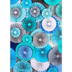 25PC conjunto de rosetón papel flor partido decoración boda