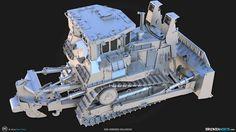 D9R Armored Bulldozer , Ben Tate on ArtStation at https://www.artstation.com/artwork/d9r-armored-bulldozer-02e00b31-f963-44ba-9024-0dc7c74e8922
