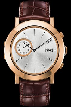 Cellini Jewelers Piaget 18K RG Very unique has two seperate movements and opens up like a pocket watch....
