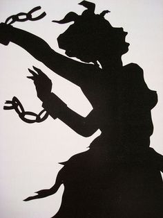 Work by Kara Walker, contemporary African American artist who explores race… Kara Walker, Walker Art, African American Artist, African Art, American Artists, Black History, Art History, Film D'animation, Silhouette