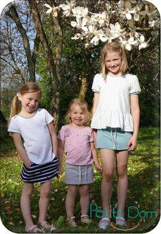 INDIE et SOHEL - jupe-short/short et tee-shirt du 2 au 16 ans