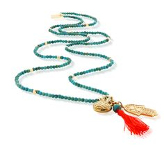 ChloBo Let's Dance Turquoise Small Decorated Heart & Hamsa Hand Necklace - Gold & Turquoise Hamsa Necklace, Tassel Necklace, Turquoise Necklace, Ibiza Fashion, Jewellery Uk, Lets Dance, Hamsa Hand, Summer Of Love, Jewelry Collection