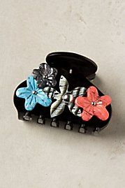 a hairclip with flowers, cute but not for 38.00!! I can recreate!